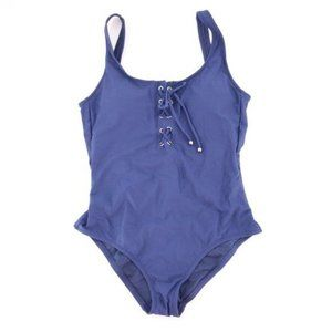 NWT Blue Mossimo Once Piece Tie Front S